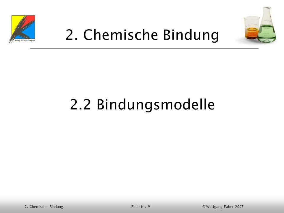 2. Chemische Bindung 2.2 Bindungsmodelle