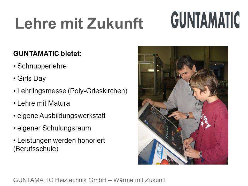Lehre mit Zukunft GUNTAMATIC bietet: Schnupperlehre Girls Day