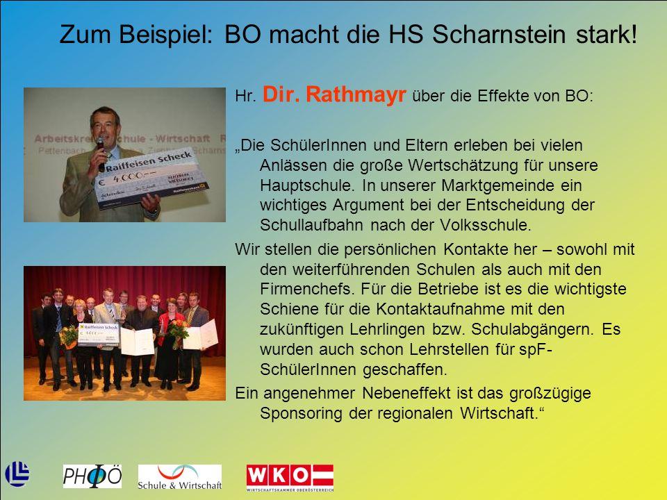 Zum Beispiel: BO macht die HS Scharnstein stark!