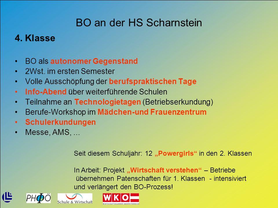 BO an der HS Scharnstein