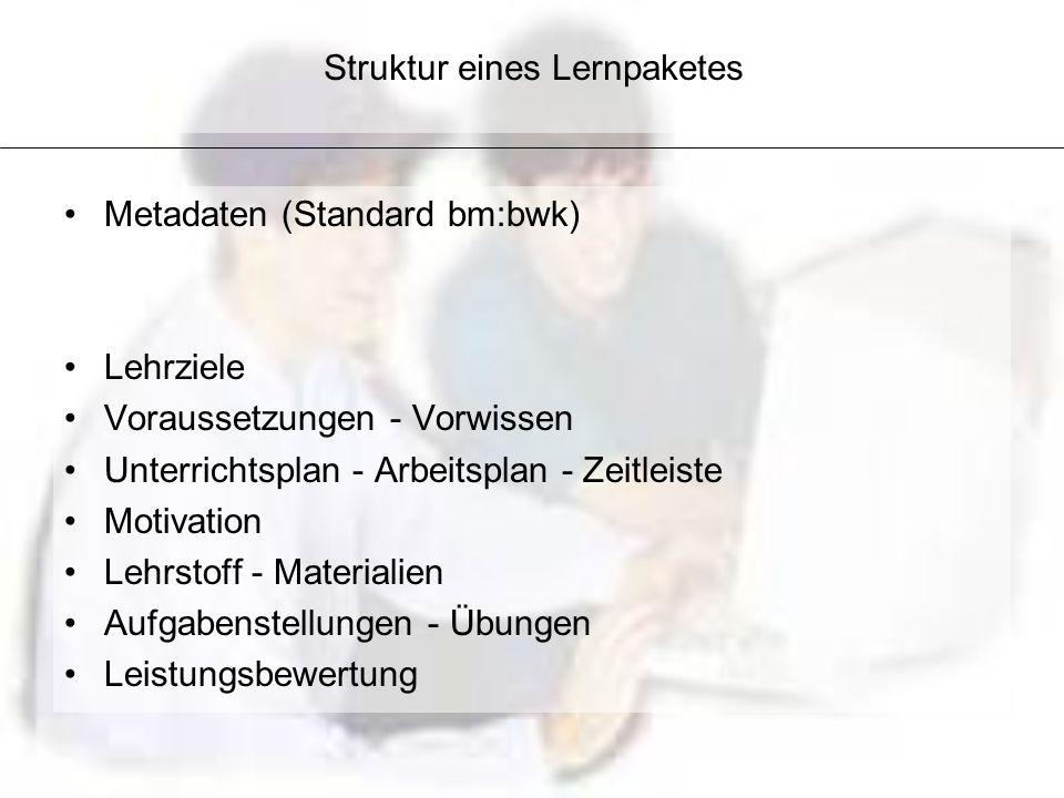 Struktur eines Lernpaketes
