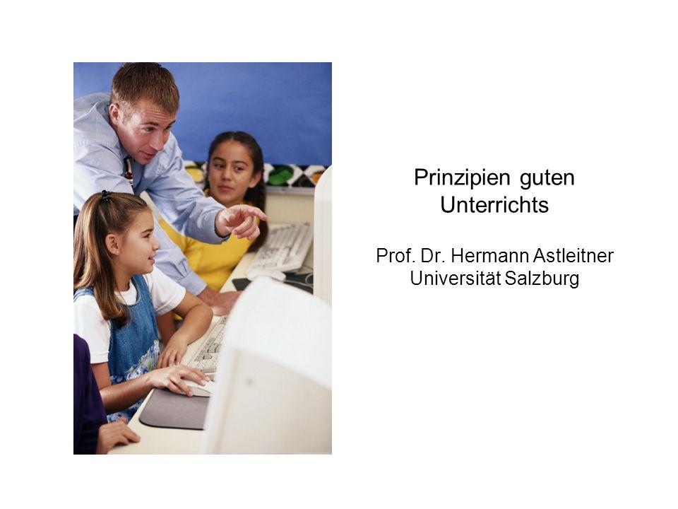 Prinzipien guten Unterrichts Prof. Dr