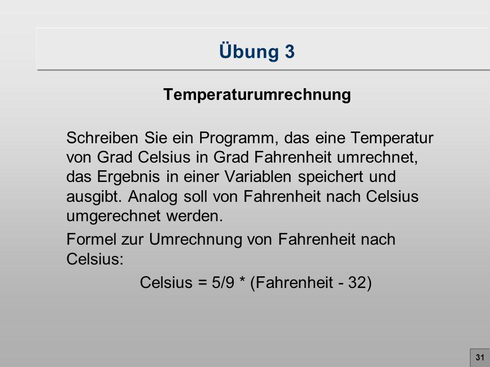 Temperaturumrechnung