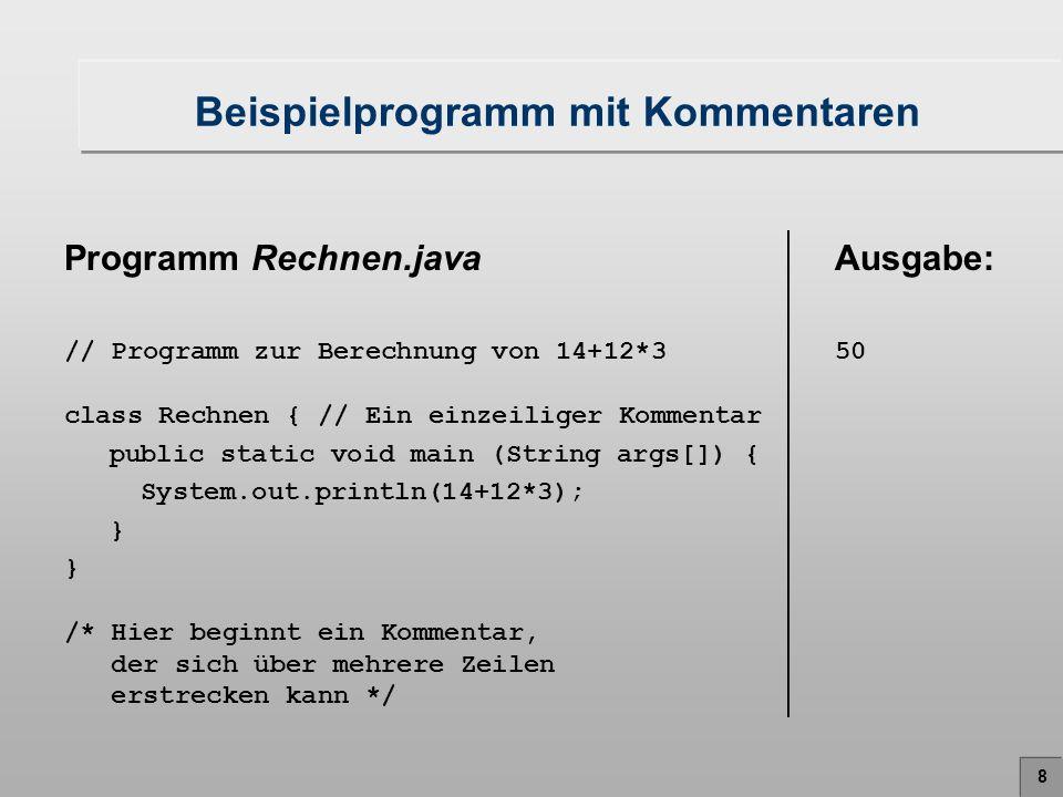Beispielprogramm mit Kommentaren