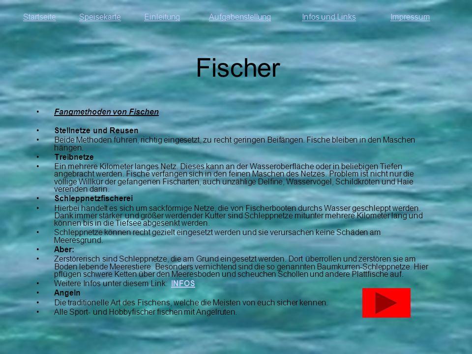Fischer Fangmethoden von Fischen Stellnetze und Reusen