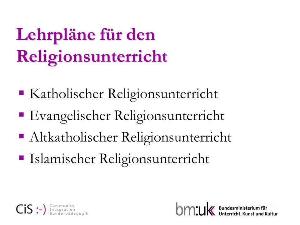 Lehrpläne für den Religionsunterricht