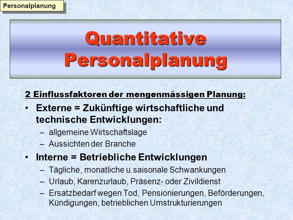 Quantitative Personalplanung