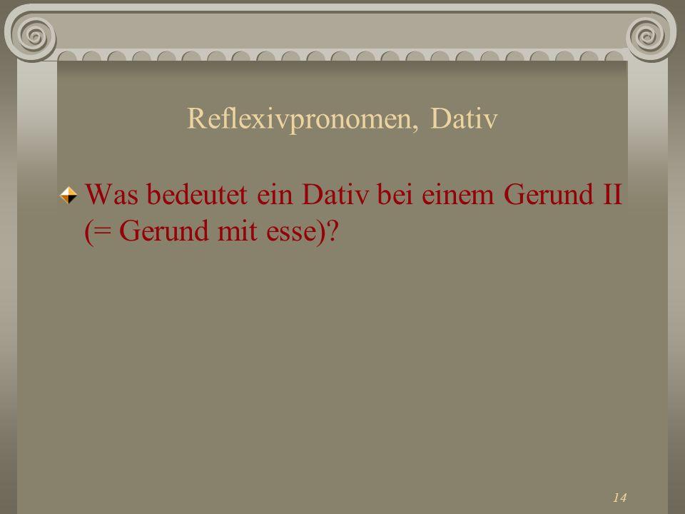 Reflexivpronomen, Dativ