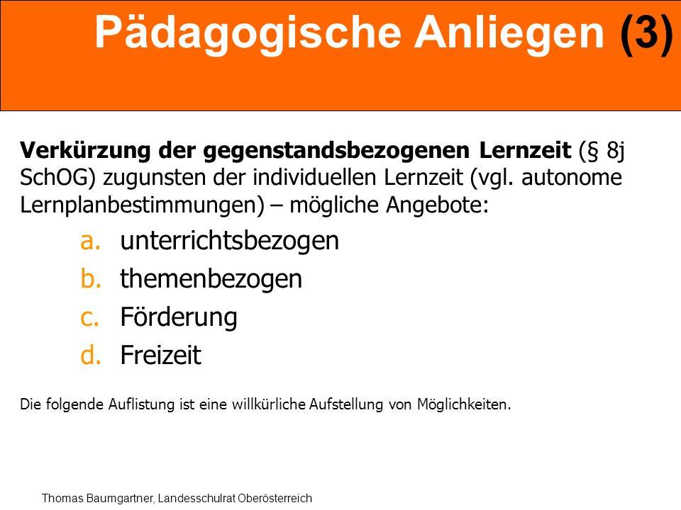 Pädagogische Anliegen (3)