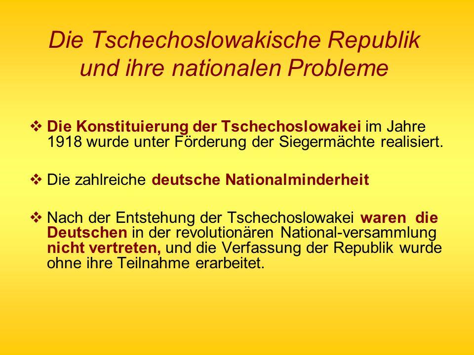 Die Tschechoslowakische Republik und ihre nationalen Probleme
