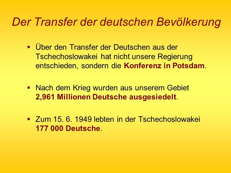 Der Transfer der deutschen Bevölkerung