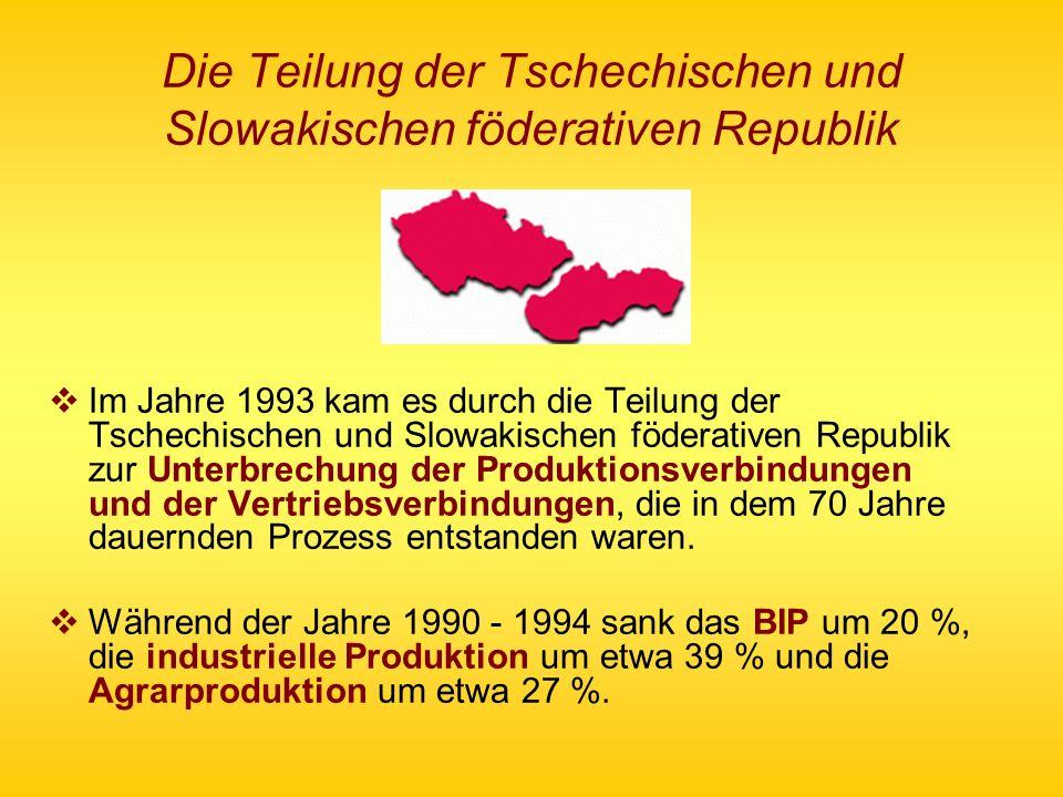 Die Teilung der Tschechischen und Slowakischen föderativen Republik