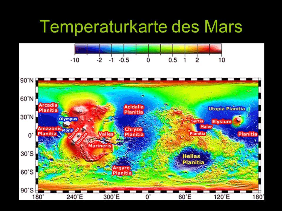 Temperaturkarte des Mars