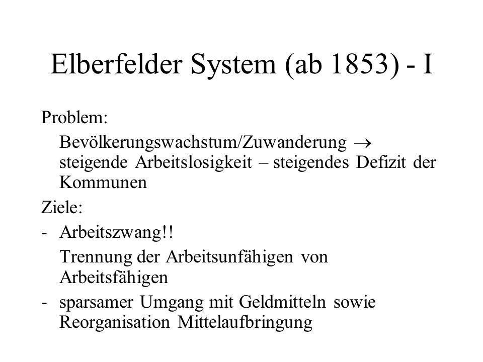 Elberfelder System (ab 1853) - I