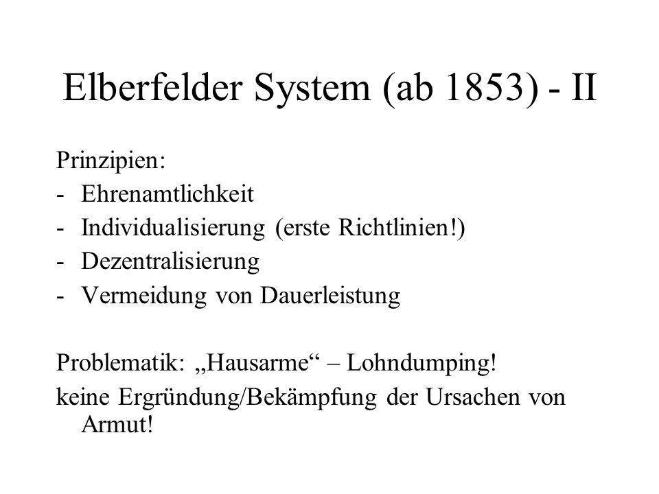 Elberfelder System (ab 1853) - II