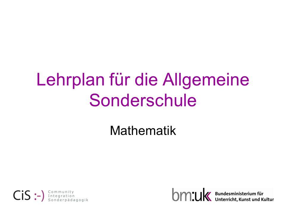 Lehrplan für die Allgemeine Sonderschule