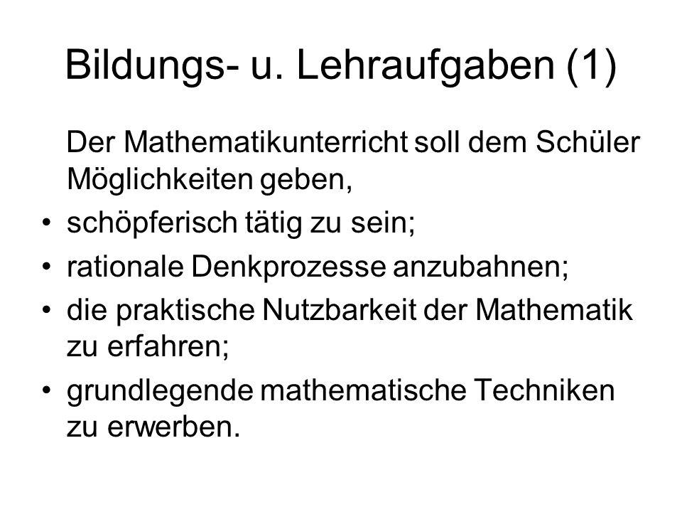 Bildungs- u. Lehraufgaben (1)