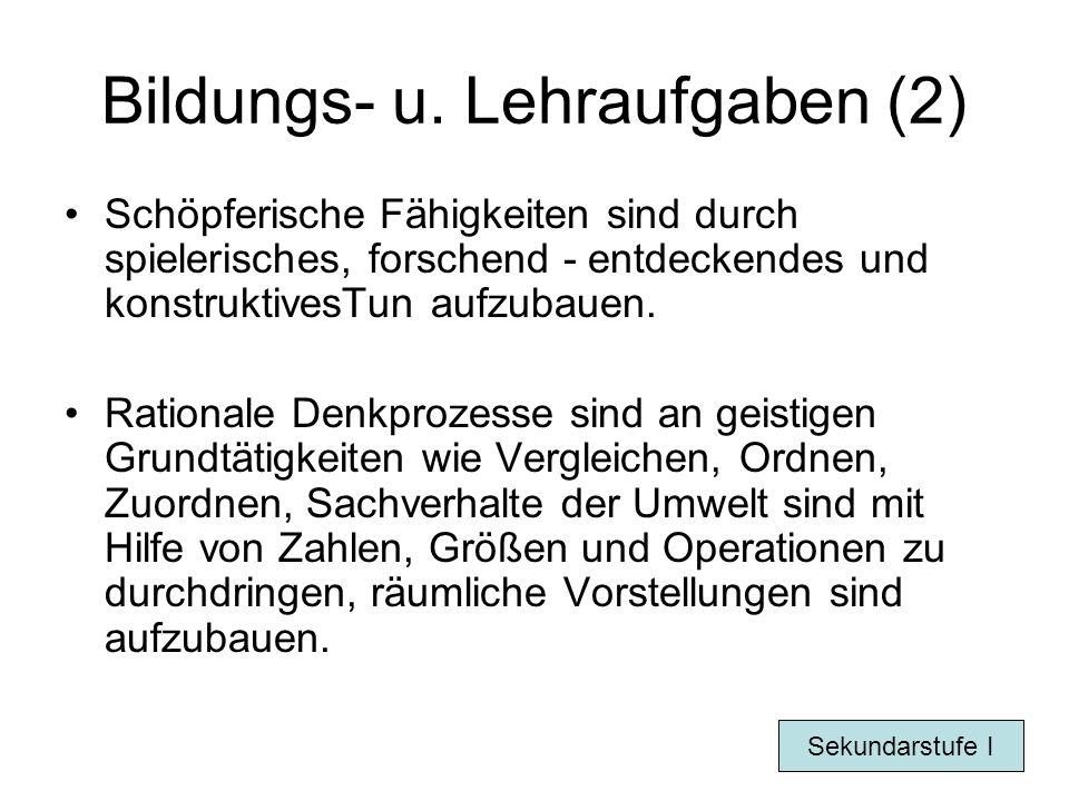 Bildungs- u. Lehraufgaben (2)