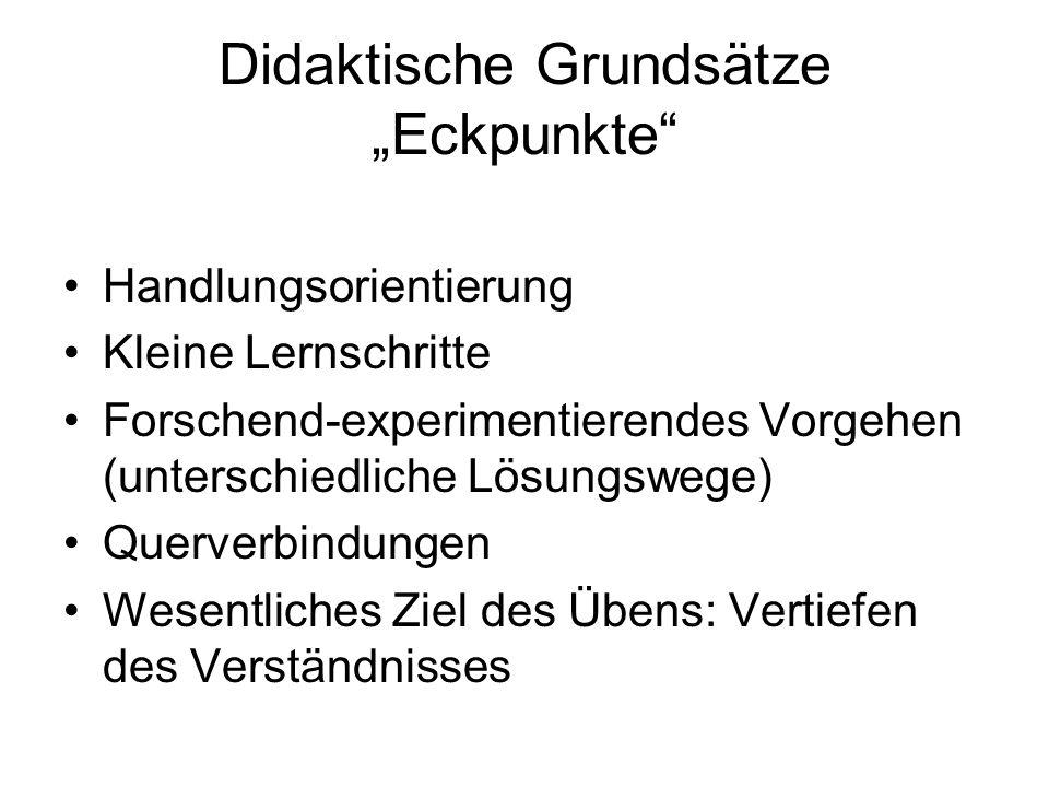 """Didaktische Grundsätze """"Eckpunkte"""