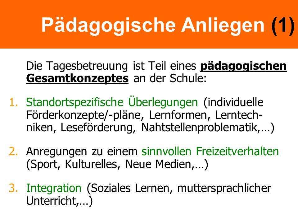 Pädagogische Anliegen (1)