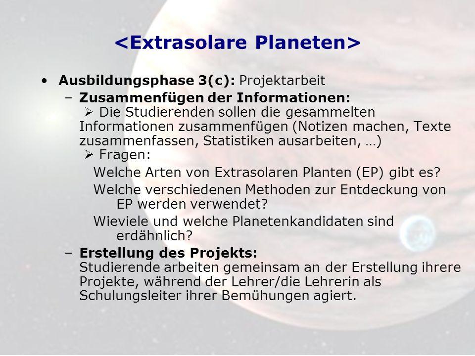 <Extrasolare Planeten>