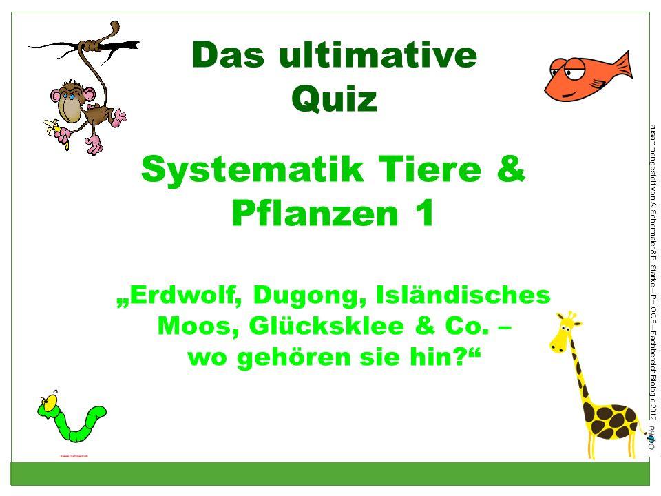Das ultimative Quiz Systematik Tiere & Pflanzen 1