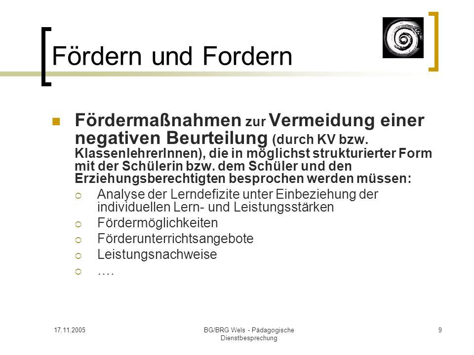 BG/BRG Wels - Pädagogische Dienstbesprechung