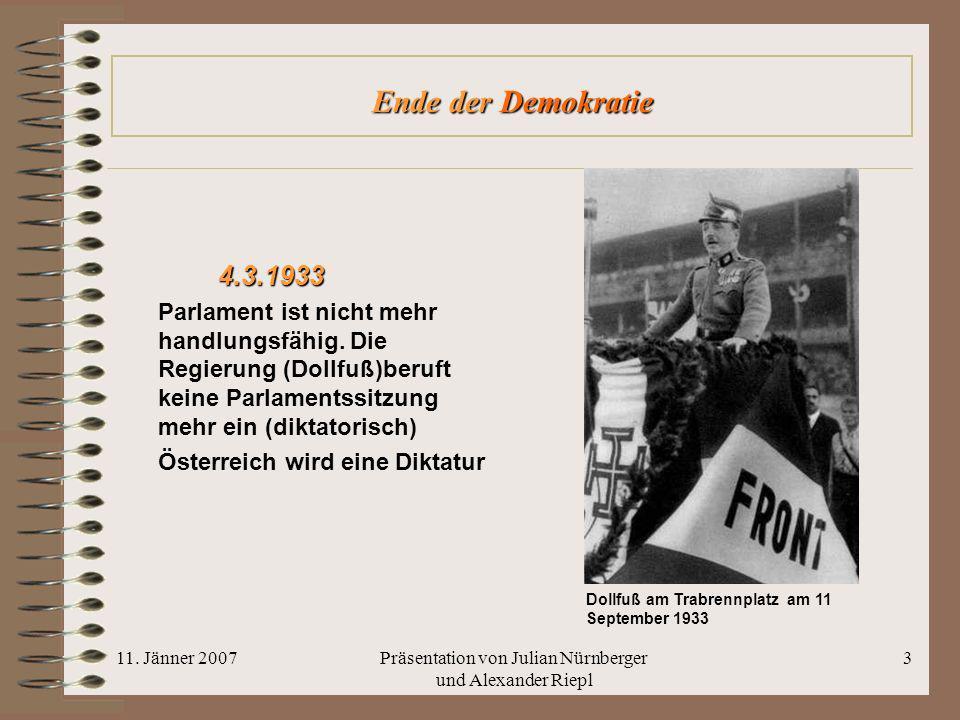 Präsentation von Julian Nürnberger und Alexander Riepl