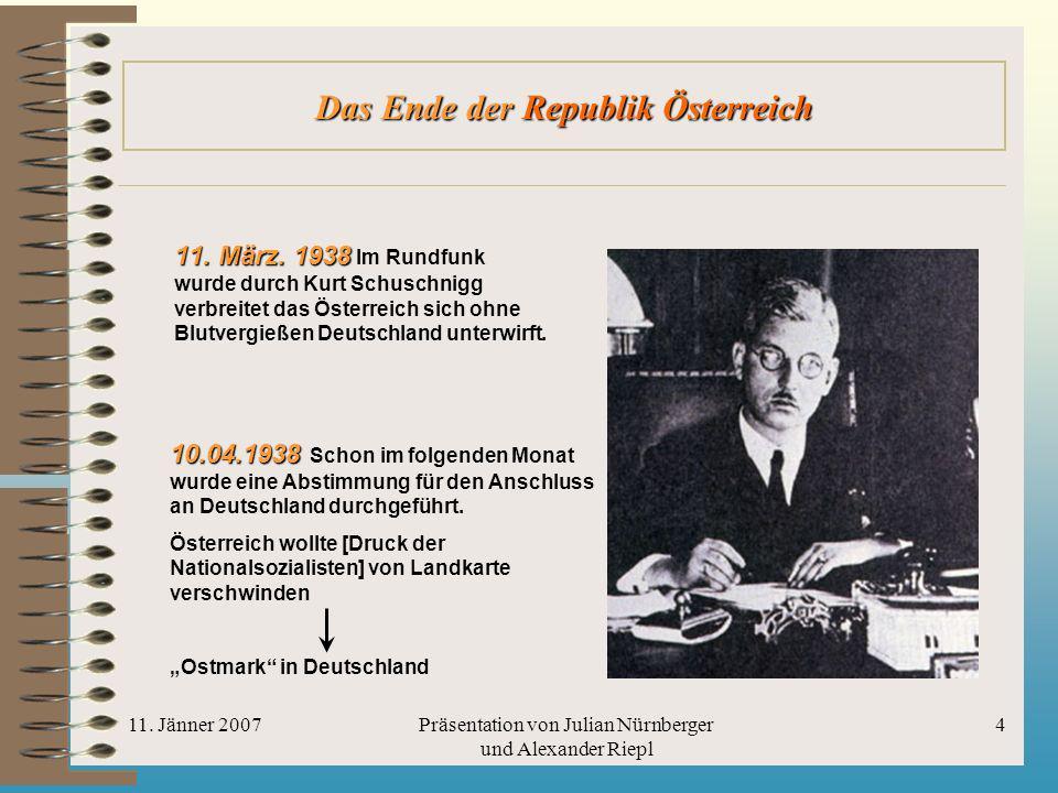 Das Ende der Republik Österreich