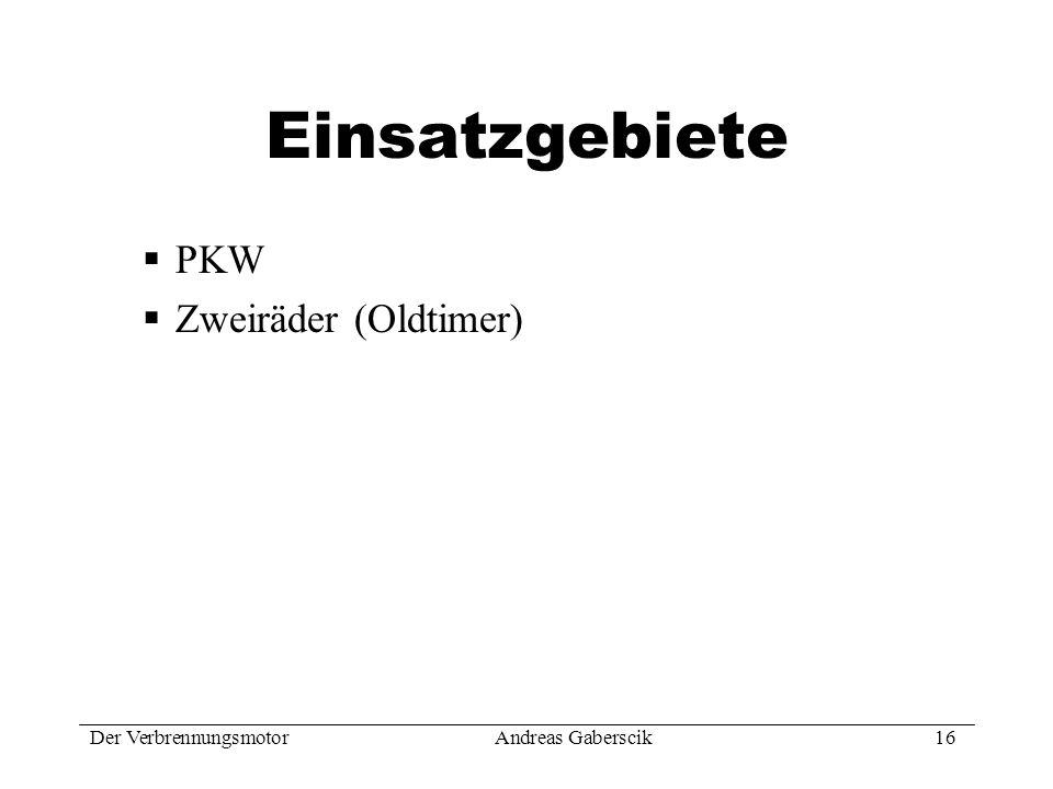 Einsatzgebiete PKW Zweiräder (Oldtimer)