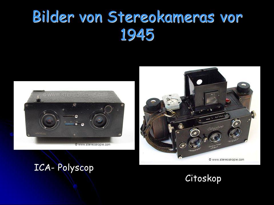 Bilder von Stereokameras vor 1945