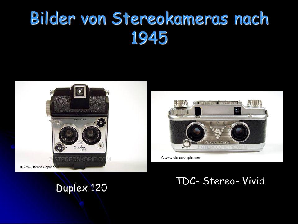 Bilder von Stereokameras nach 1945