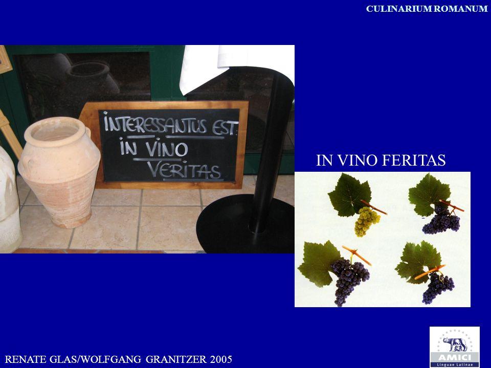 CULINARIUM ROMANUM IN VINO FERITAS RENATE GLAS/WOLFGANG GRANITZER 2005