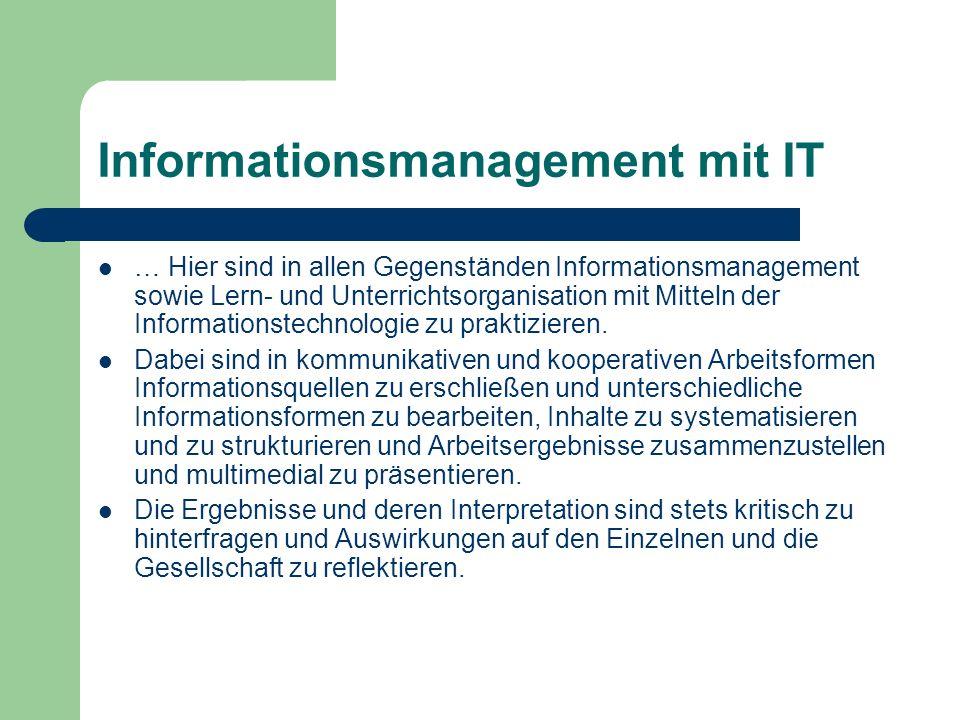 Informationsmanagement mit IT