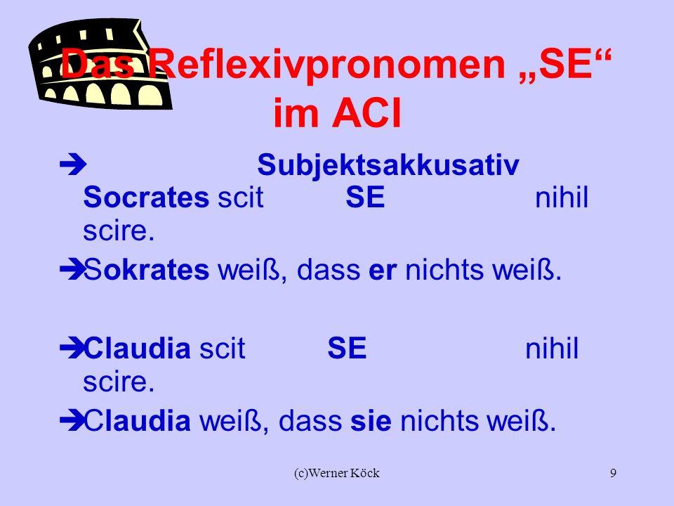 "Das Reflexivpronomen ""SE im ACI"