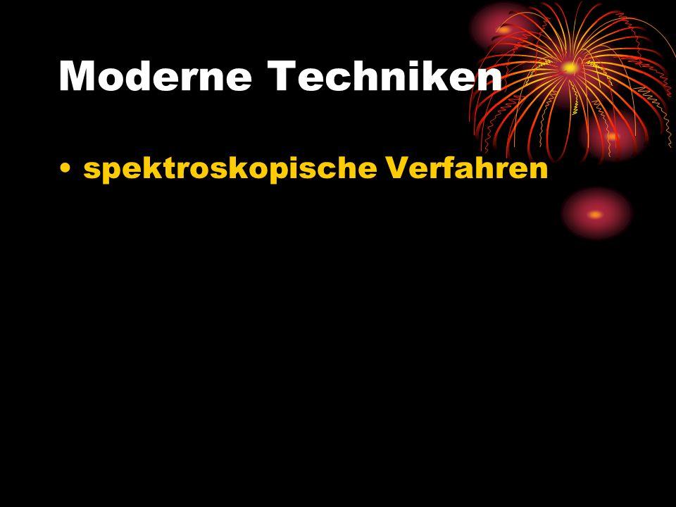 Moderne Techniken spektroskopische Verfahren
