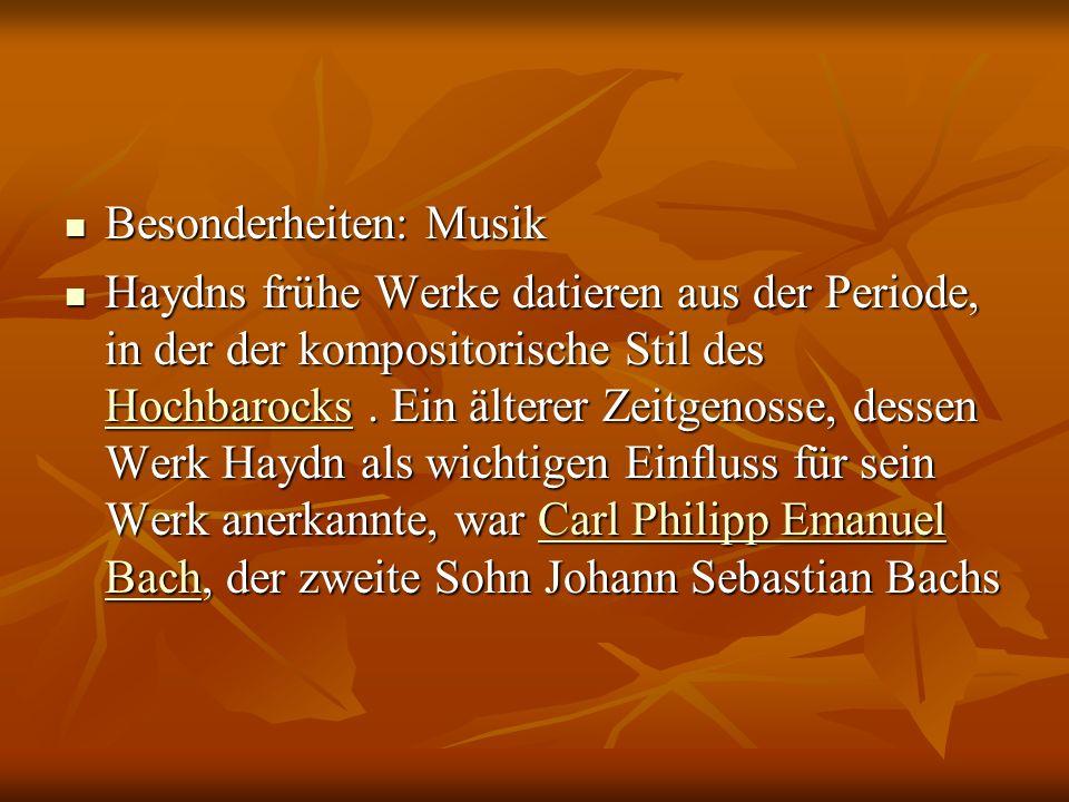 Besonderheiten: Musik