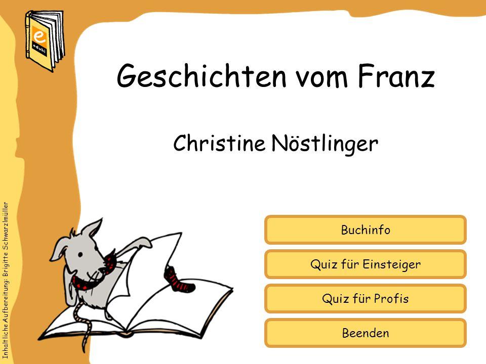 Geschichten vom Franz Christine Nöstlinger Buchinfo