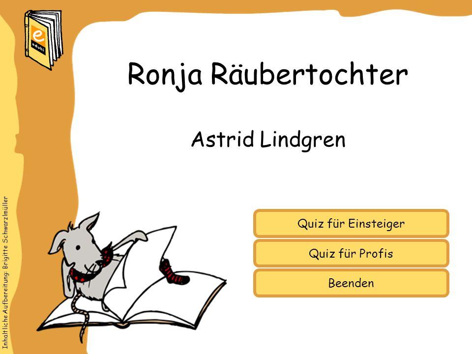 Ronja Räubertochter Astrid Lindgren Quiz für Einsteiger