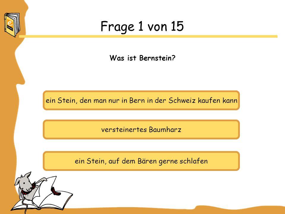 Frage 1 von 15 Was ist Bernstein