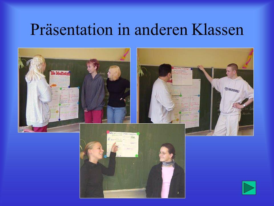 Präsentation in anderen Klassen