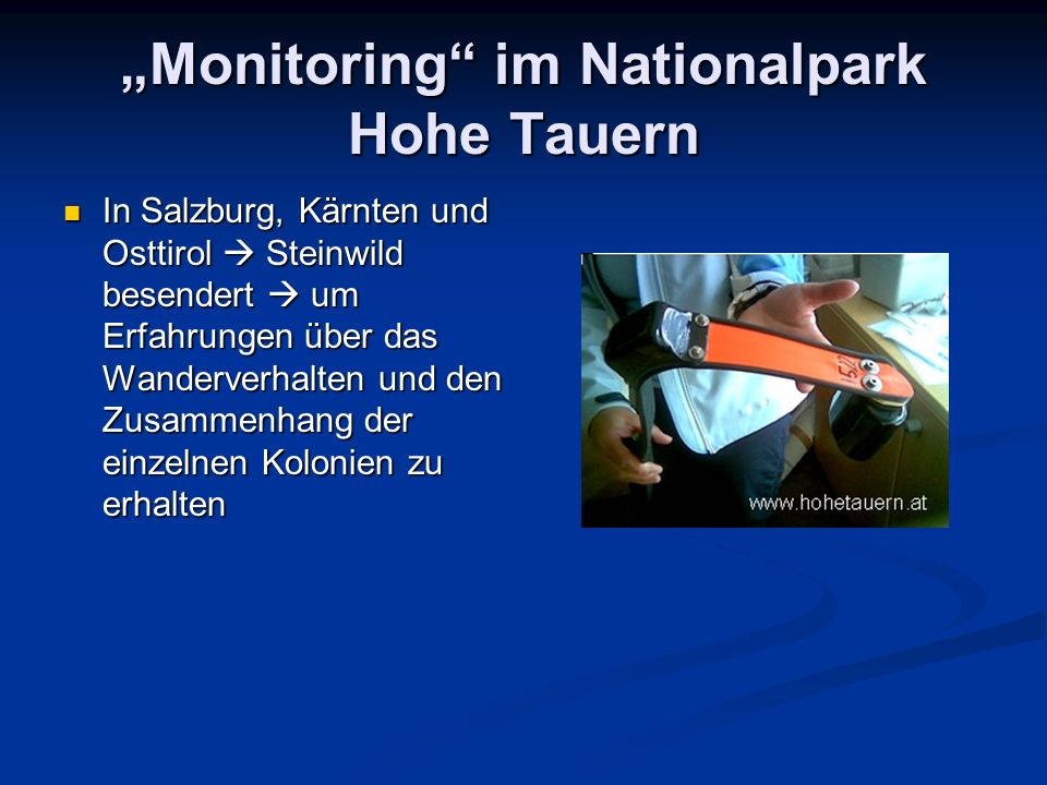 """Monitoring im Nationalpark Hohe Tauern"