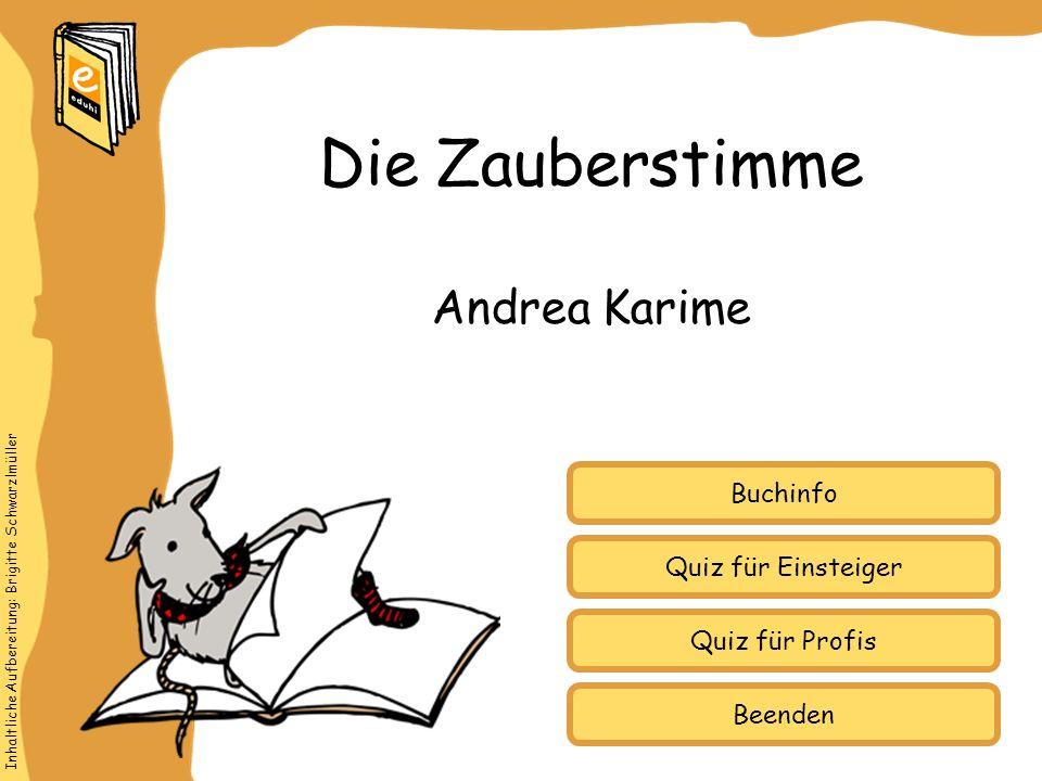Die Zauberstimme Andrea Karime Buchinfo Quiz für Einsteiger