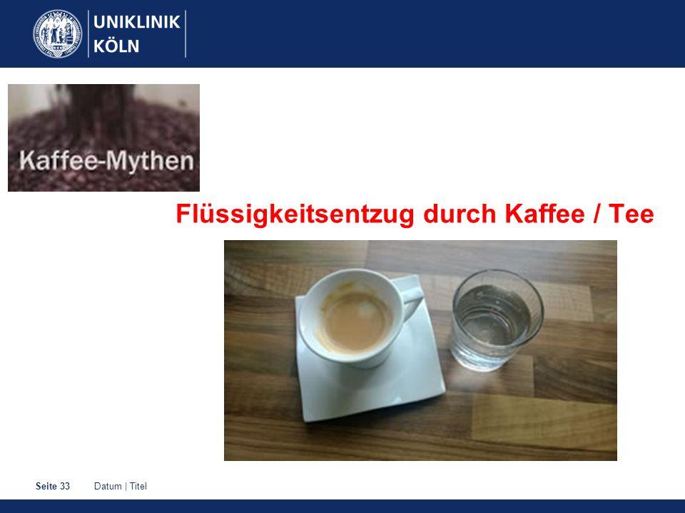Flüssigkeitsentzug durch Kaffee / Tee
