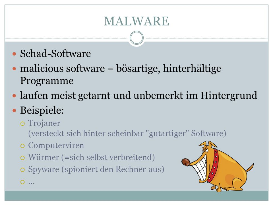 MALWARE Schad-Software