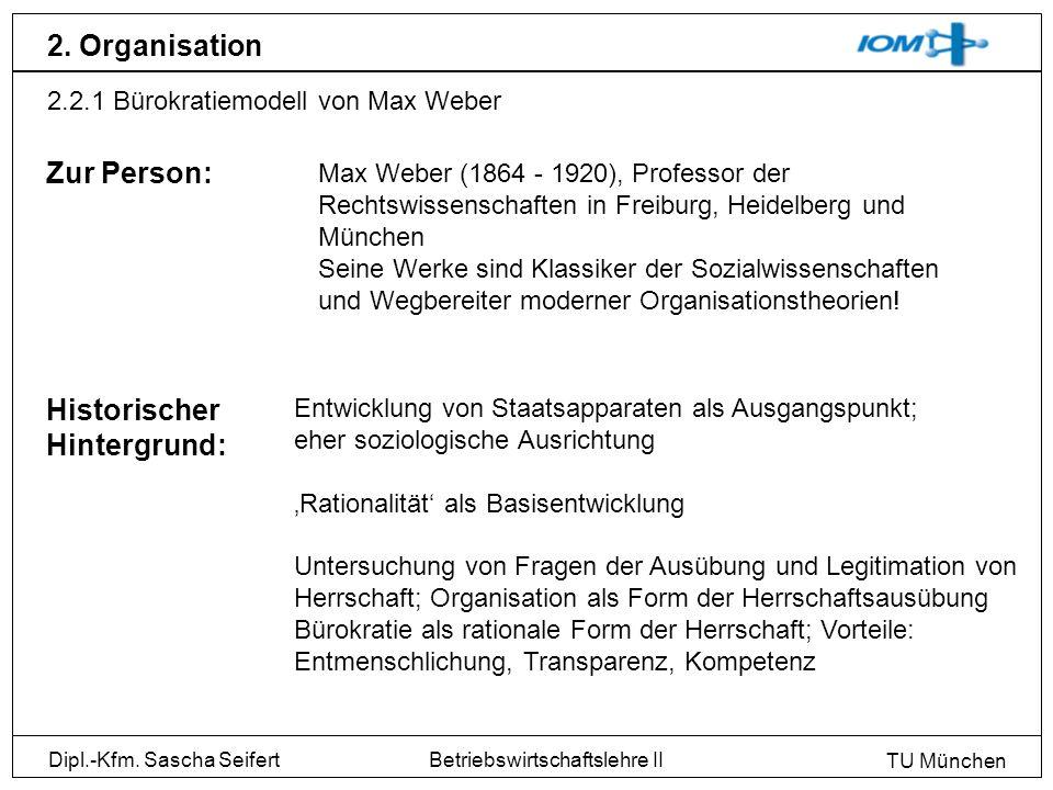 2. Organisation Zur Person: Historischer Hintergrund:
