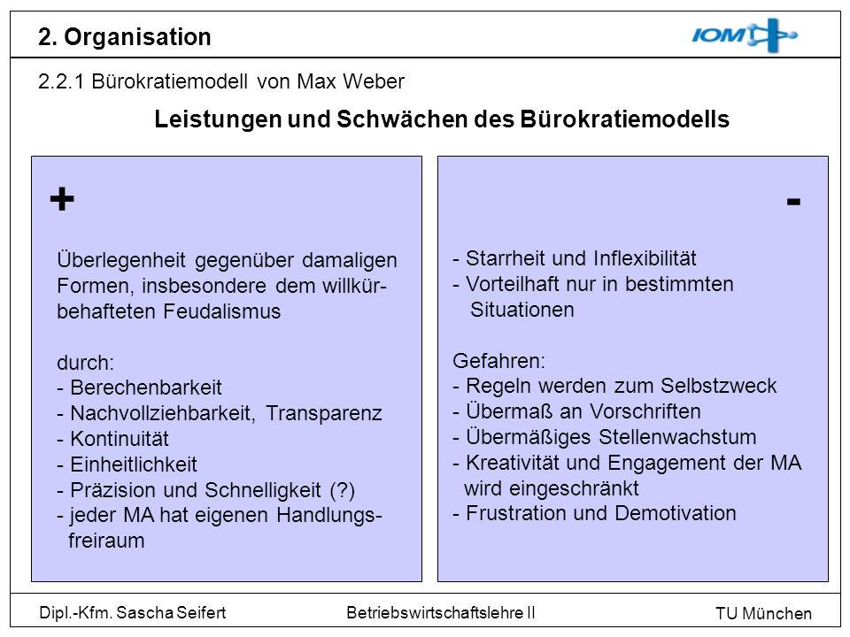 + - 2. Organisation Leistungen und Schwächen des Bürokratiemodells