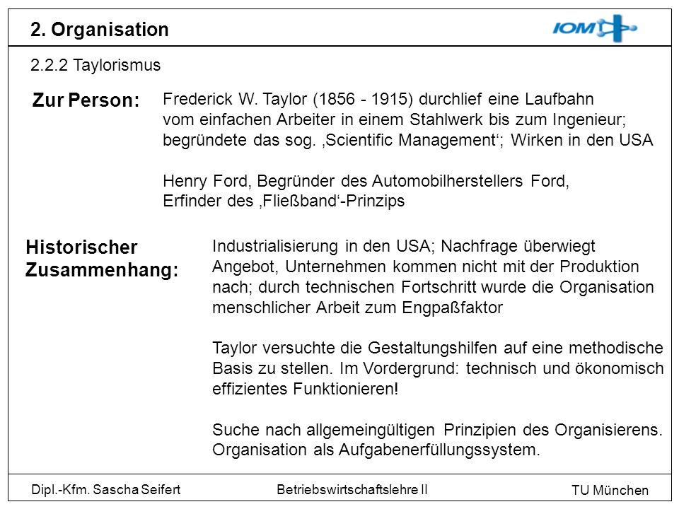 2. Organisation Zur Person: Historischer Zusammenhang: