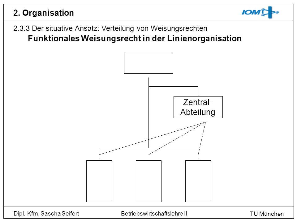 Funktionales Weisungsrecht in der Linienorganisation