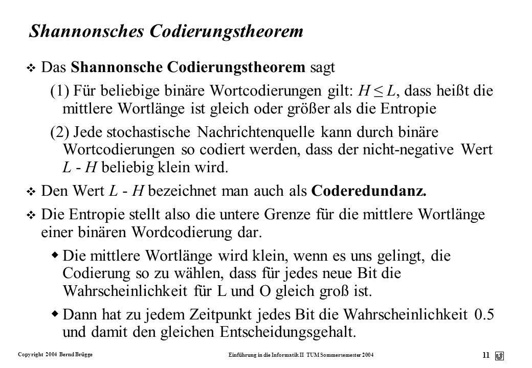 Shannonsches Codierungstheorem